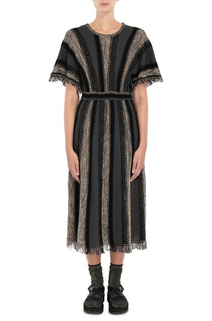 M MISSONI Dress Grey Woman - Back