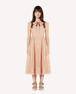 REDValentino Tubular embroidered point d'esprit tulle dress