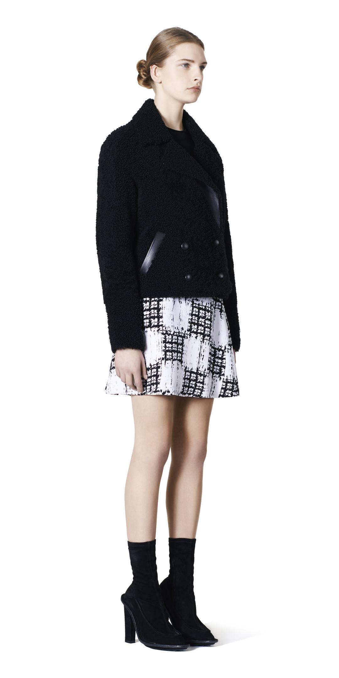 BALENCIAGA Balenciaga Drapiertes Kleid Scribble Check Rock D f