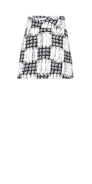 BALENCIAGA Rock D Balenciaga Drapiertes Kleid Scribble Check f