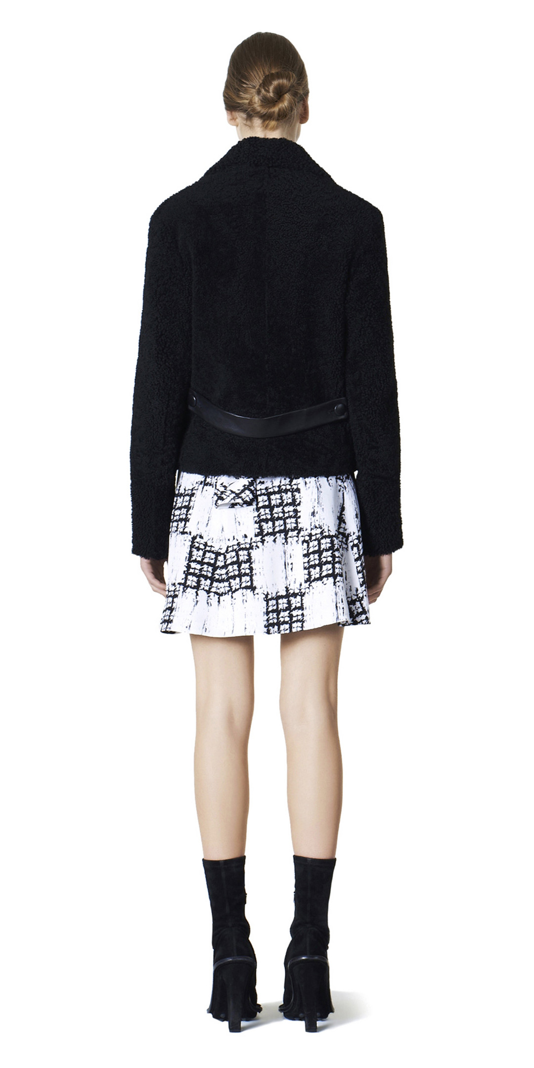 BALENCIAGA Skirt D Balenciaga Scribble Check Drapy Skirt i