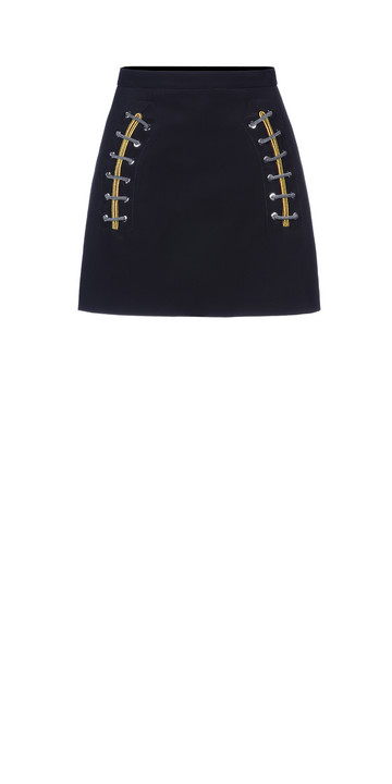 Balenciaga Shoe Lace Mini Skirt
