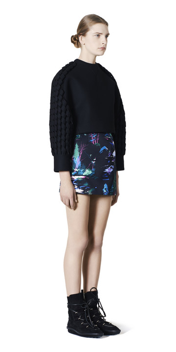 BALENCIAGA Skirt D Balenciaga Landscape Mini Skirt f