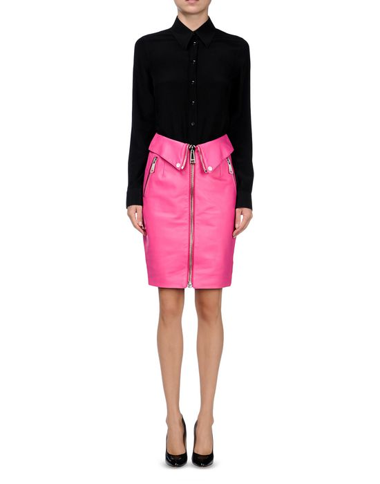 Leather skirt Woman MOSCHINO