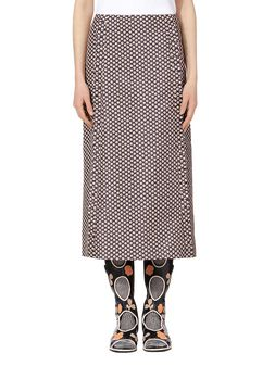 Marni Skirt in double cotton and silk Blossom Tree print Woman