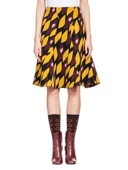 Marni Skirt in double face crepe Hortus print Woman