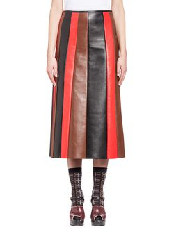 Marni Skirt in leather for a multi-colored effect Woman