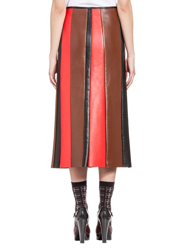 bd17e2cc27 Skirt In Leather For a Multi Colored Effect from the Marni Spring ...
