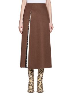 Marni Runway skirt in bonded washed felt Woman