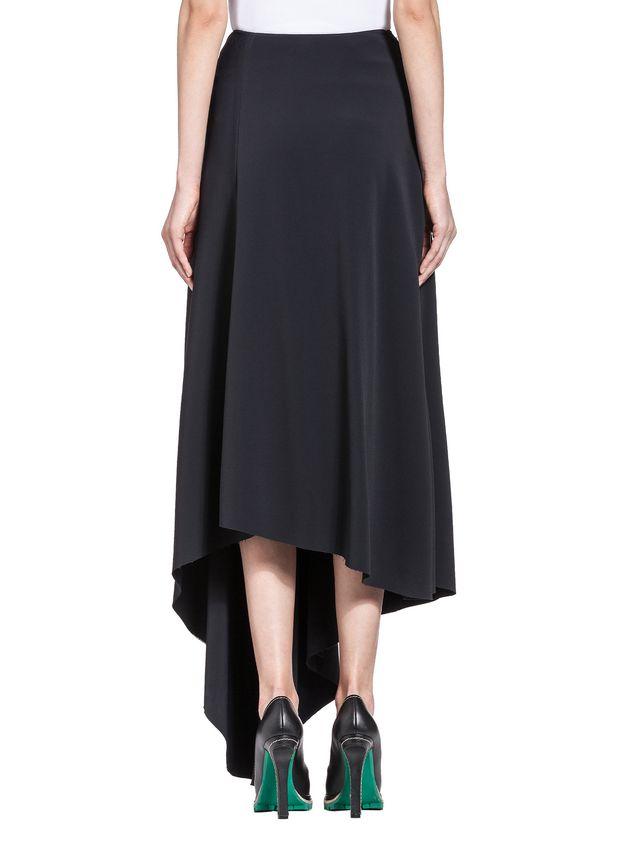 Marni Runway skirt in stretch raw-edged cady Woman