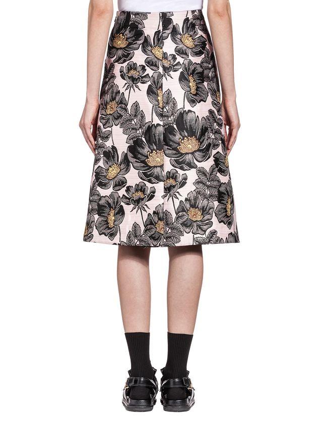 Marni Skirt in 3D matelassé floral jacquard Woman
