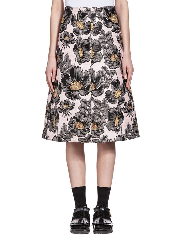 Marni Skirt in 3D matelassé floral jacquard Woman - 1