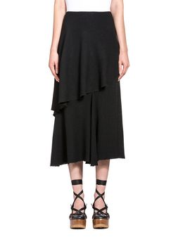 Marni Asymmetric skirt in viscose toile Woman