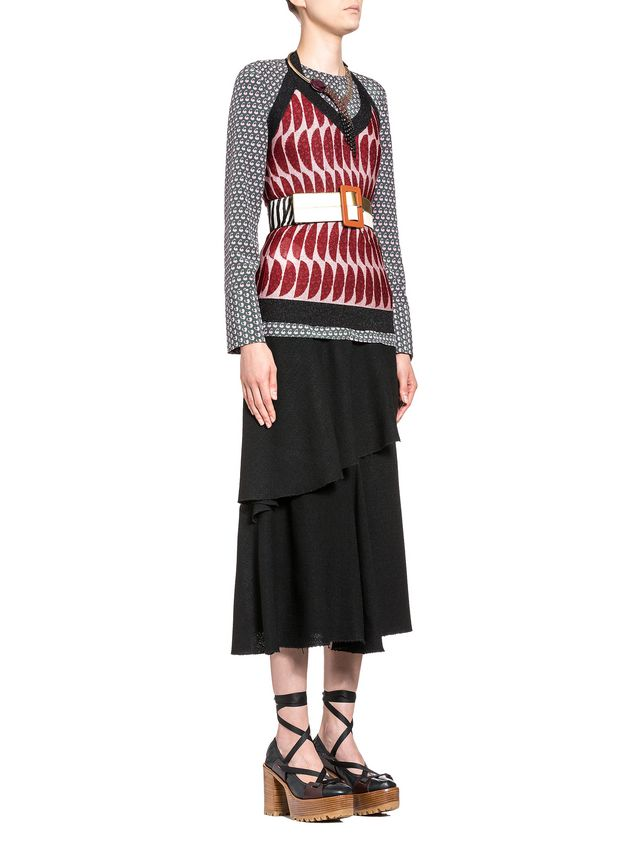 Marni Asymmetric skirt in viscose toile Woman - 4