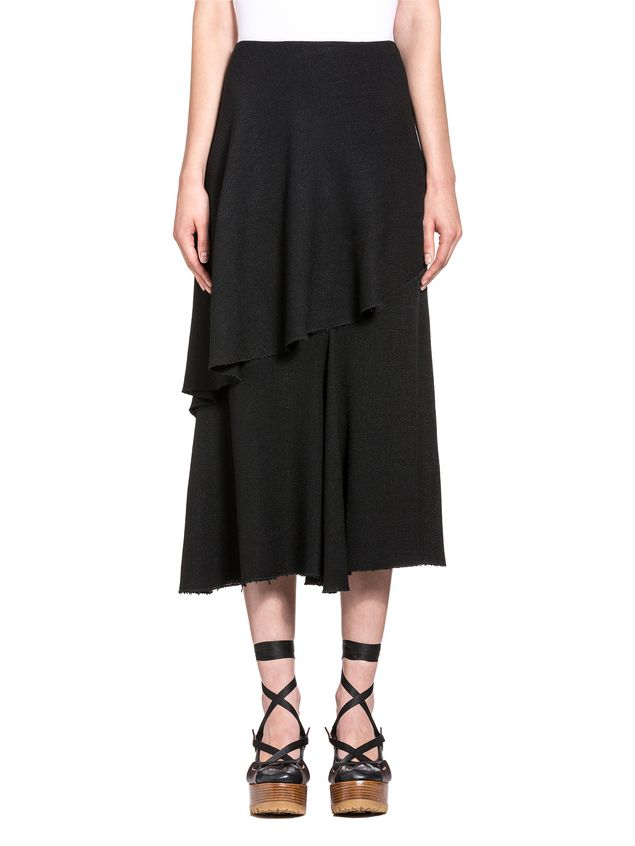 Marni Asymmetric skirt in viscose toile Woman - 1