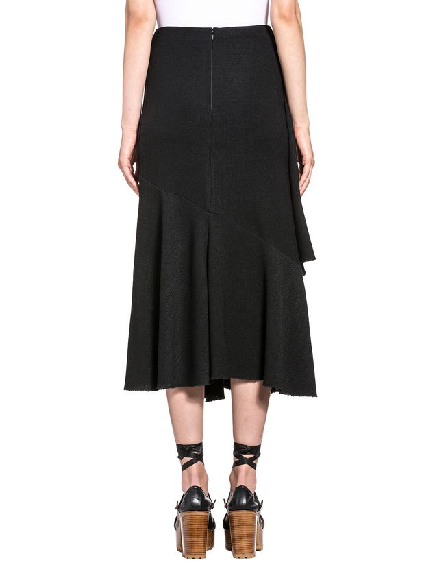 Marni Asymmetric skirt in viscose toile Woman - 3