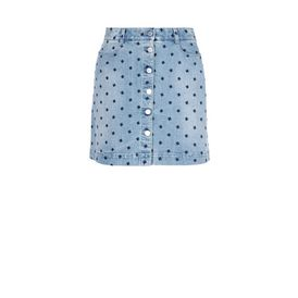 STELLA McCARTNEY Minigonna D Gonna in Denim con Stelle f