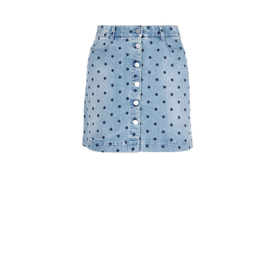Star Denim Skirt