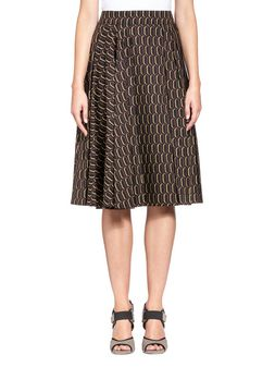 Marni Asymmetrical skirt in poplin Woman