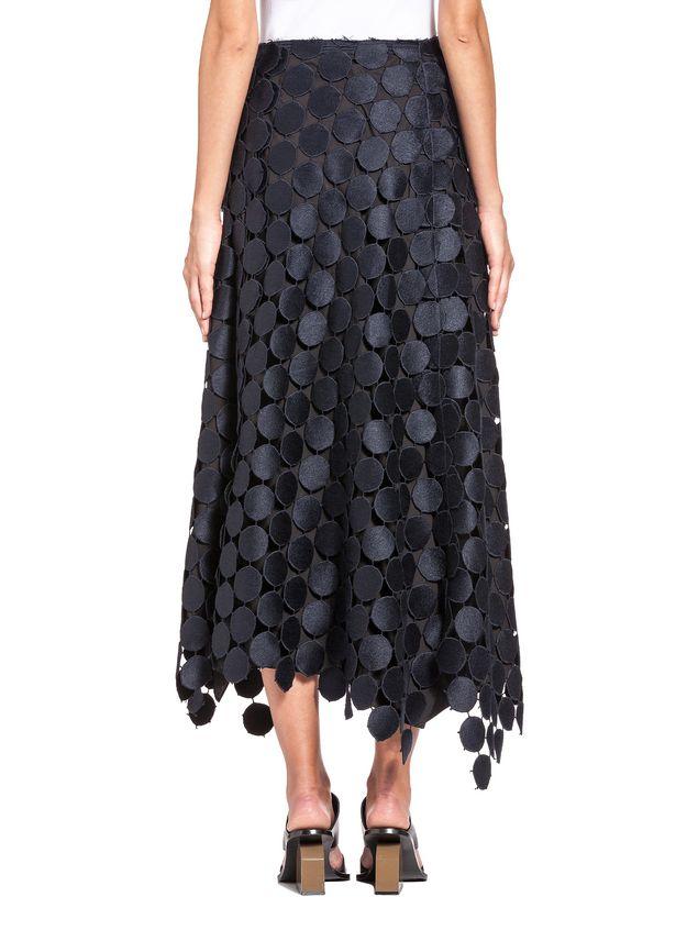 Marni Runway skirt in dot macramé Woman