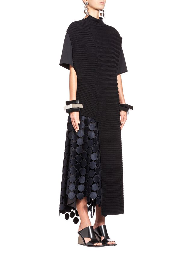 Marni Runway skirt in dot macramé Woman - 4
