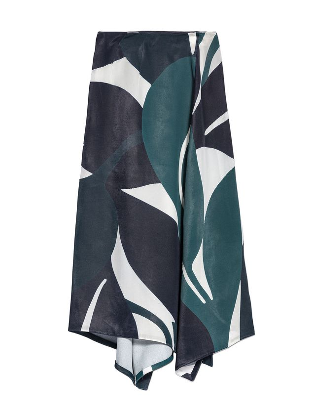Marni Split skirt in devoré twill with Shadow print Woman - 2