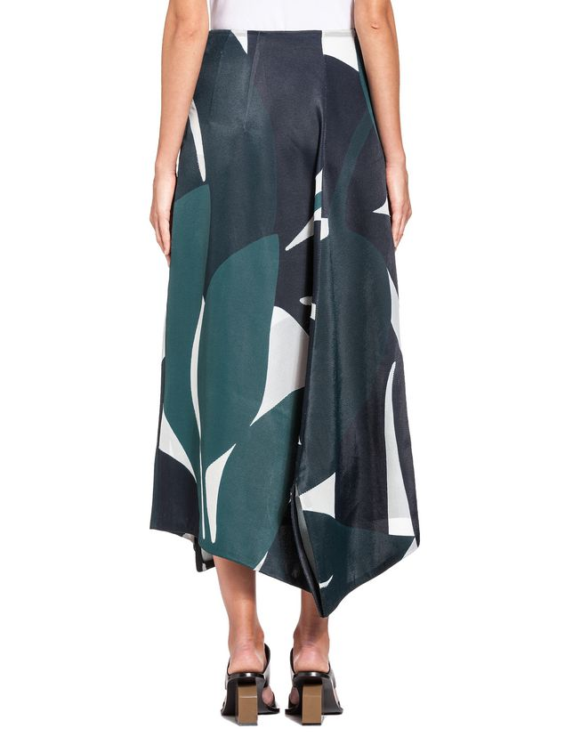 Marni Split skirt in devoré twill with Shadow print Woman - 3