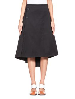 Marni Flared skirt in cotton cady with rubber buttons  Woman