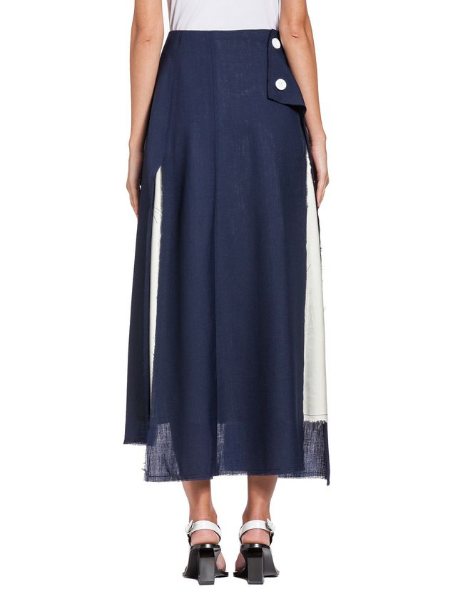 Marni Runway skirt in 2-thread tropical wool   Woman