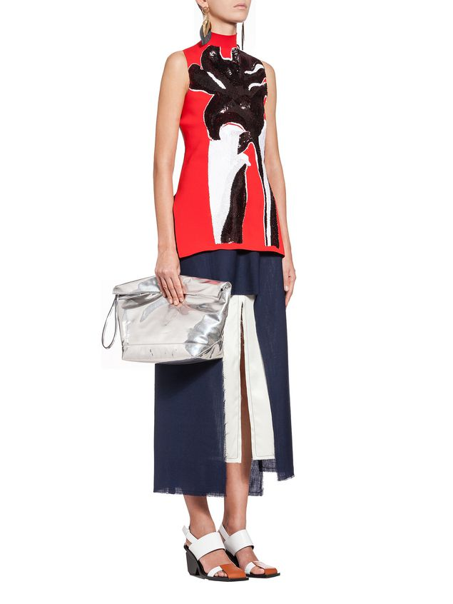 Marni Runway skirt in 2-thread tropical wool   Woman - 4
