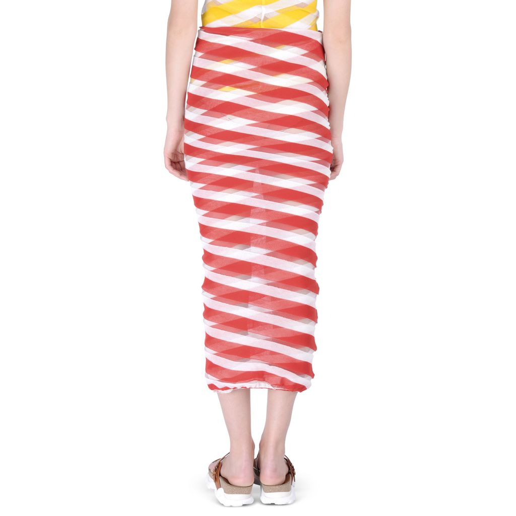 Chilli Transparent Checks Skirt - STELLA MCCARTNEY