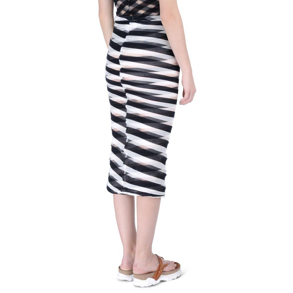 Navy Transparent Checks Skirt - STELLA MCCARTNEY