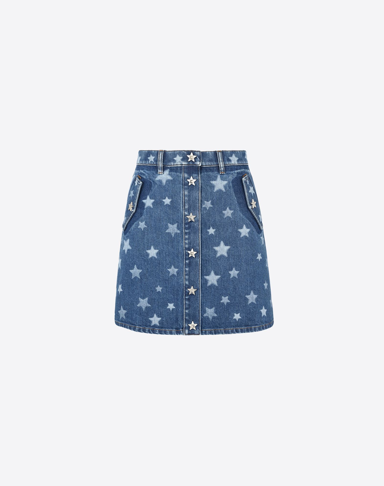 VALENTINO Denim Two-tone pattern Snap button closure Multipockets Unlined  35288223ah