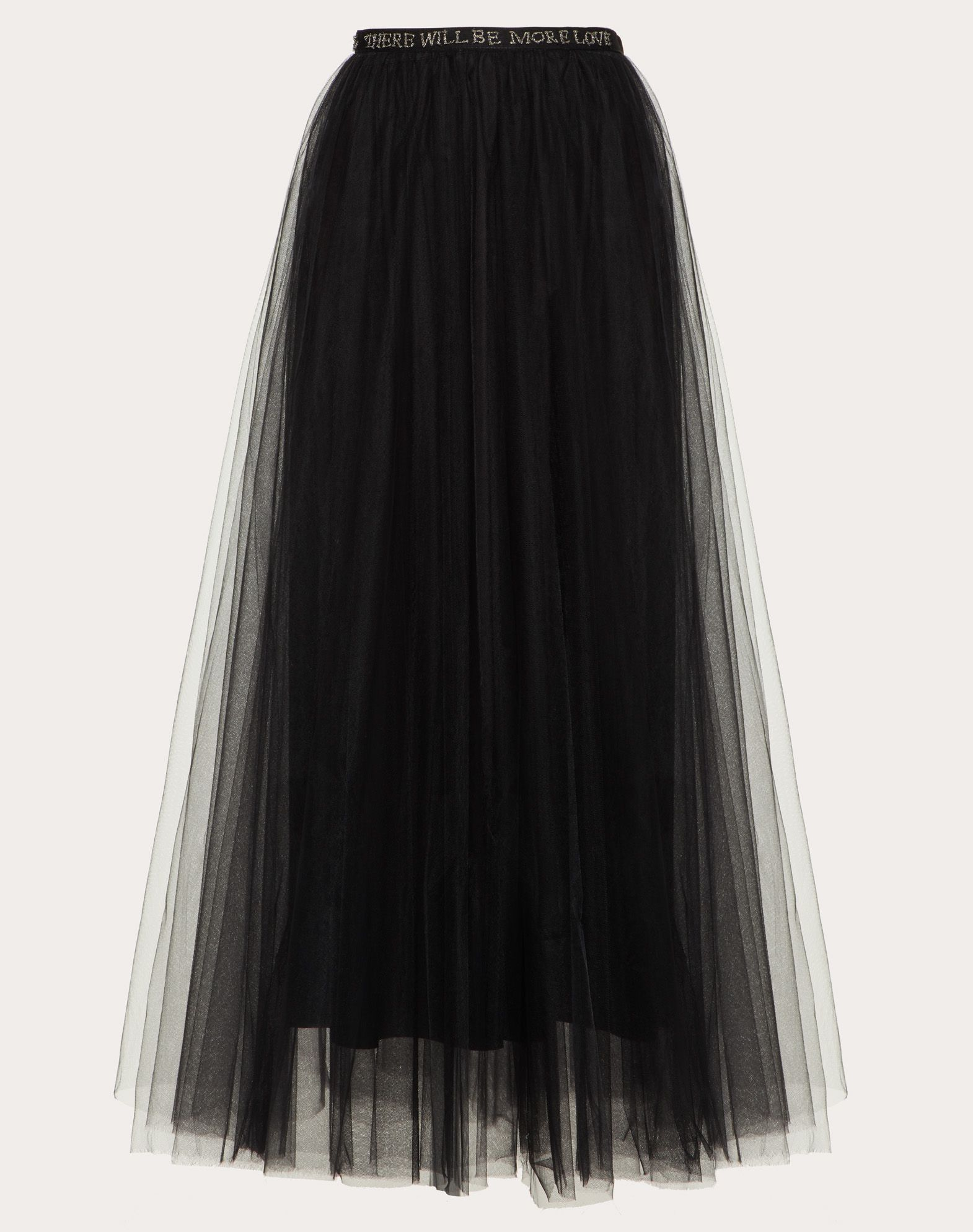 VALENTINO Frills Tulle Basic solid colour Hook-and-bar, zip Lined interior  35288348uc
