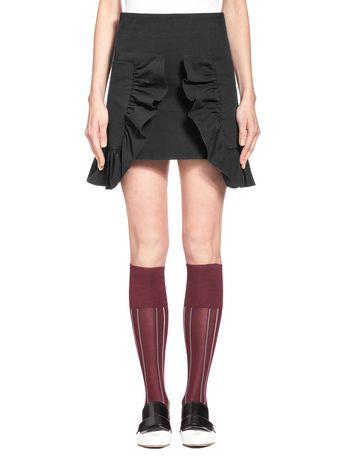 Marni Mini-skirt in bonded crepe interlock with 3D sequins Woman