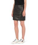 Leather biker skirt