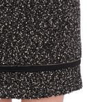 KARL LAGERFELD Salt & pepper bouclé skirt 8_e