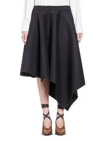 Marni Asymmetric skirt in double heavy duty felt Woman