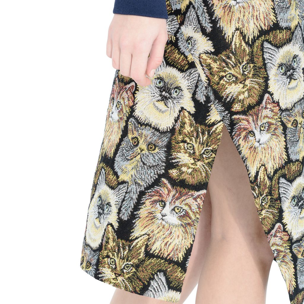 Cat Jacquard Anna Skirt - STELLA MCCARTNEY