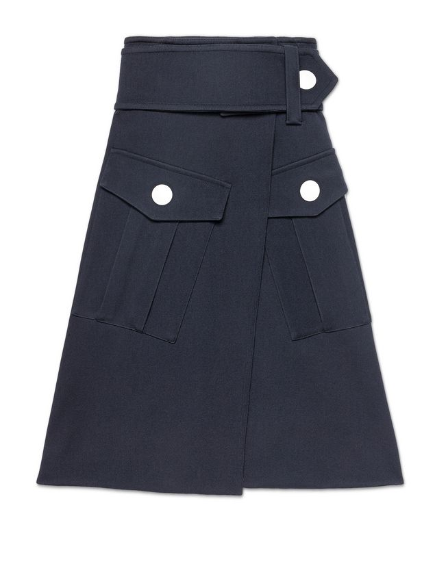 Marni Runway skirt in wool gabardine Woman - 2