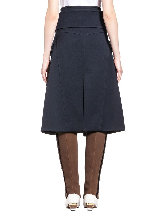 Marni Runway skirt in wool gabardine Woman - 3
