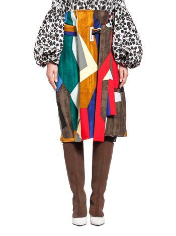 Marni Runway skirt in stretch wool Resurgence print  Woman