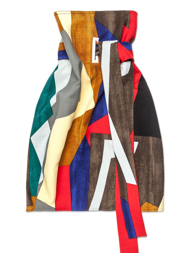 4ada5ad2c1 ... Marni Runway skirt in stretch wool Resurgence print Woman - 2 ...