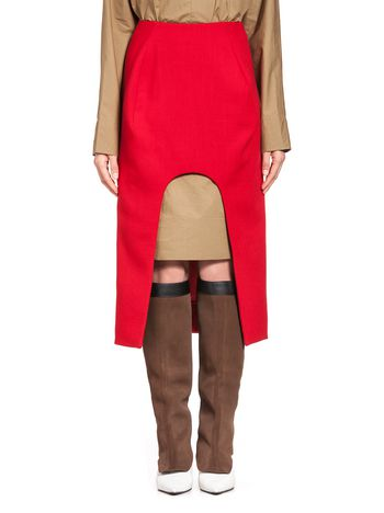 Marni Runway skirt in wool crepe  Woman