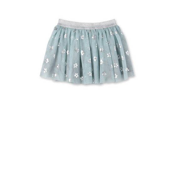 Blue Flower Print Honey Skirt