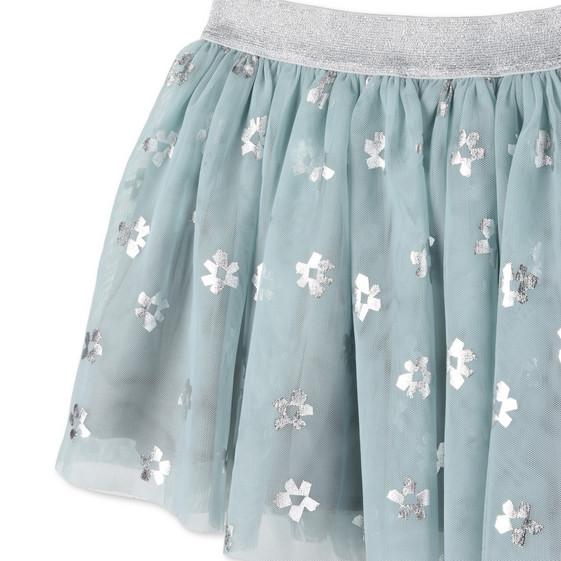 Blue Flower Print Honey Skirt