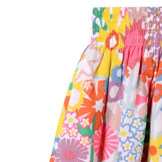 Floral Collage Print Nat Skirt