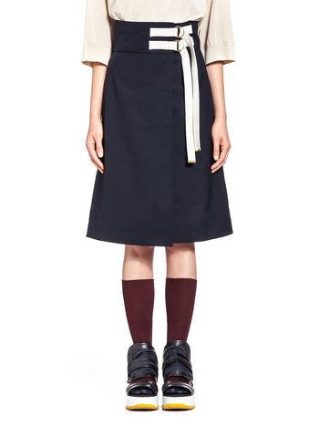 Marni Wool and jute wraparound skirt Woman