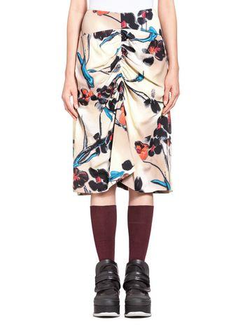 Marni Sablé viscose skirt, Lucid print Woman