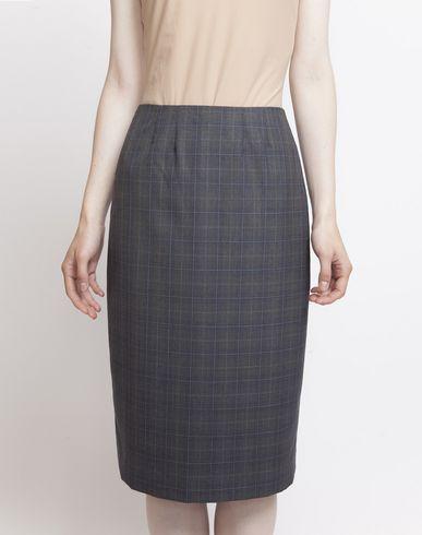 MAISON MARGIELA Knee length skirt D Look 27: Wool Check Skirt f